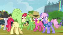 Crowd of ponies hears bear roar S4E22