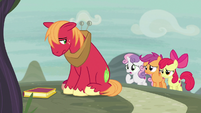 Cutie Mark Crusaders ask Big Mac if he's okay S7E8