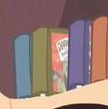 Daring Do books in the shelf S2E16.png