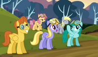 Derpy landing 2 wearing goggles wrong way S2E22