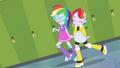 Diamond Tiara and Silver Spoon with rainbow hair EGDS12b.png