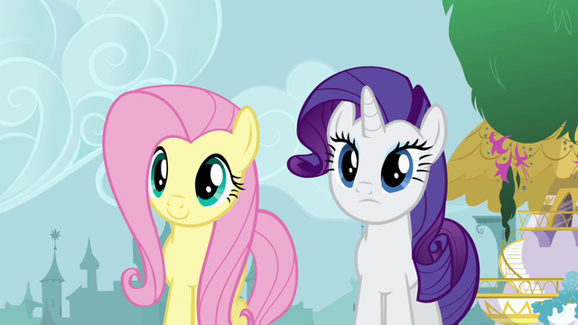 File:Fluttershy and Rarity talking to Twilight S4E01.png
