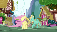 Fluttershy and Zephyr swept by the wind S6E11