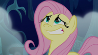 Fluttershy giving a nervous grin S6E15
