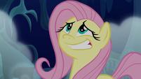 Fluttershy giving a nervous grin S6E15