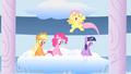 Fluttershy jumping and screaming when Rainbow Dash succeeds S1E16.png
