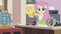 Fluttershy sees rolling tambourine EG2.png