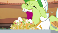 Granny Smith about to eat nachos S8E5