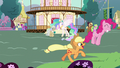 Main ponies having fun in Celestia's flashback S7E1.png