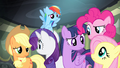 Main ponies look at each other S4E06.png
