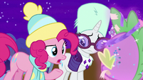 """Pinkie """"did you get attacked by a party?"""" MLPBGE"""