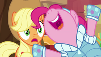 Pinkie Pie gloating to Applejack BGES1