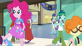 Pinkie Pie skipping out of the school EG3.png