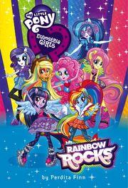 Portada del libro Equestria Girls Rainbow Rocks