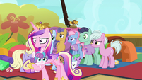 Princess Cadance nervously leaving the daycare S7E22