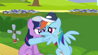 Rainbow Dash & Twilight huddle whisper S2E22