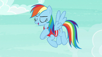 Rainbow Dash --you still flew rings around me-- S6E18