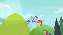 Rainbow Dash catches the buckball S8E17