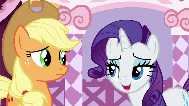 """File:Rarity """"fashion needs a healthy dose of practicality"""" S7E9.png"""
