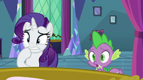 Rarity and Spike worried about Twilight S8E2