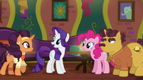 Rarity gives the others the good news S6E12