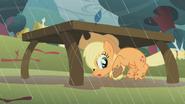 S01E08 Applejack chowa się pod stołem