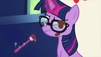 Sci-Twi's glasses stained with chocolate EGSB