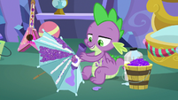 Spike squirts more glue on umbrella MLPBGE