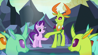 Starlight Glimmer and Thorax shake hooves S7E1