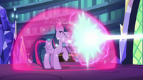Twilight blocks Starlight's magic with barrier S6E21