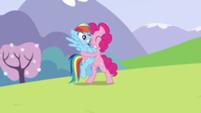 201px-Pinkie begins hugging Rainbow S3E7