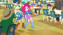 Applejack and Pinkie Pie holding hands EG