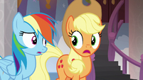 Applejack and Rainbow unsure how to answer S8E9