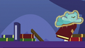 Blue teddy bear knocking over books S7E3.png