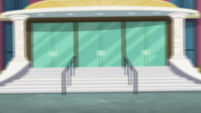 Blurry exterior of Canterlot High School EGS3