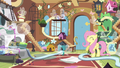 Fluttershy and Breezies having a party S4E16.png