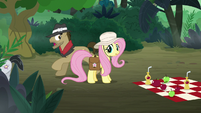 Fluttershy sees henchponies run away S9E21