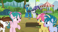 Foals looking at Thunderlane and Rumble S7E21