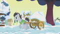 Lucky Clover hauling cart of snow S1E11.png