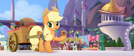 MLP The Movie Moviepilot - Applejack giving out cider