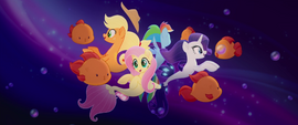Main ponies meeting the bubblefish MLPTM