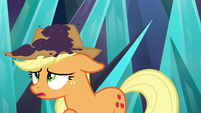 More dirt lands on Applejack's hat S9E2