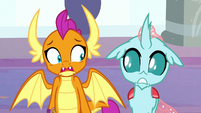 Ocellus and Smolder getting freaked out S8E15