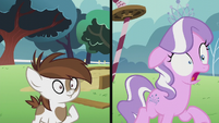 Pipsqueak smiles; Diamond Tiara shocked S5E18