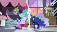 "Princess Celestia ""embrace the new!"" S9E17"
