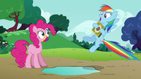 Rainbow Dash aghast at Pinkie's words S6E15