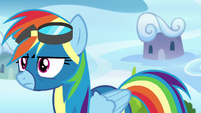 Rainbow approaches her parents annoyed S7E7