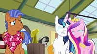 Shining Armor and Cadance crying together S7E3