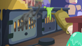 Smoke pouring out of the kitchen oven S6E21.png