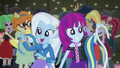 Trixie and unnamed girl with pony ears and tails EG2.png